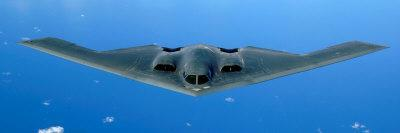 B-2 Spirit Soars Through the Sky after a Refueling Mission