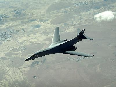 U.S. Air Force B-1B Lancer on a Combat Patrol over Afghanistan