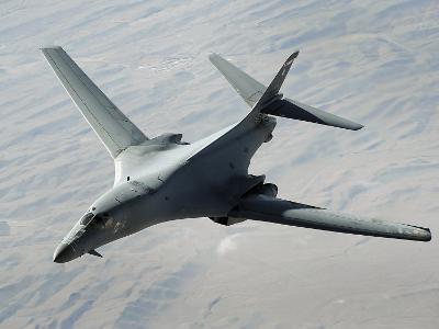 U.S. Air Force B-1B Lancer on a Combat Patrol over Afghanistan