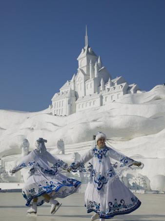 Ice Skating Show, Ice and Snow Festival, Harbin, Heilongjiang, China