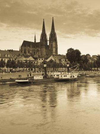 St. Peter Cathedral and Town, Dom, Regensburg, Bavaria, Germany
