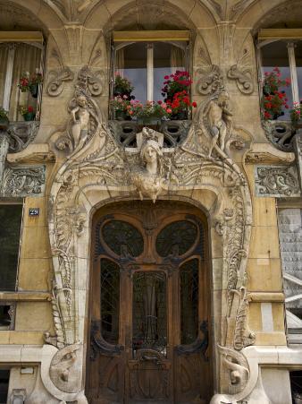 Art Nouveau Doorway, Avenue Rapp, Paris, France
