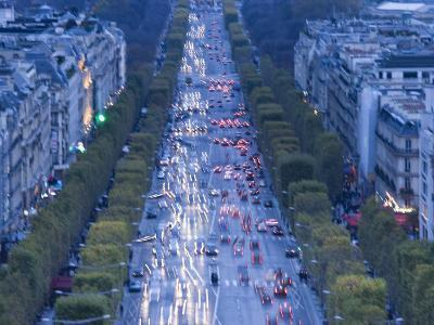 Champs Elysees View from the Arc De Triomphe, Paris, France