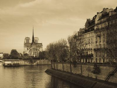 Notre Dame Cathedral and Ile St-Louis Buildings, Paris, France