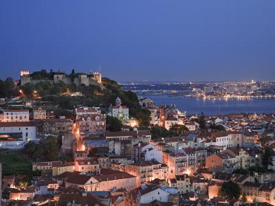 Baixa District and Castelo De Sao Jorge, Lisbon, Portugal