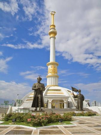 Monument to the Independence of Turkmenistan, Independance Park, Berzengi Ashgabat, Turkmenistan