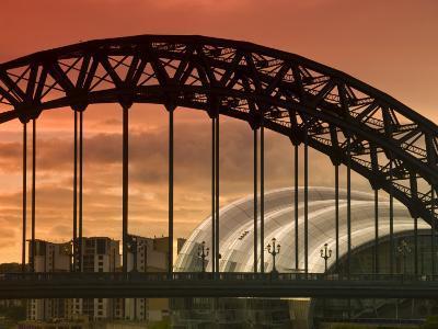 Newcastle and Gateshead, Tyne Bridge and the Sage, Tyne and Wear, England, UK