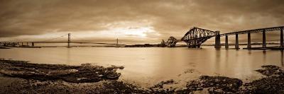 Forth Road and Rail Bridges, Firth of Forth, Edinburgh, Scotland, UK