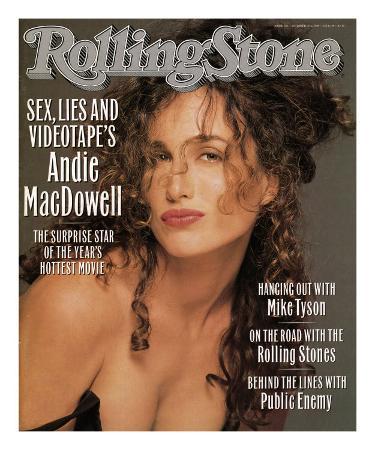 Andie MacDowell, Rolling Stone no. 563, October 19, 1989