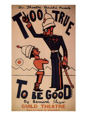 Too True to Be Good by Bernard Shaw at the Guild Theatre, c.1932