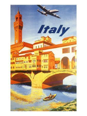 Italy: Ponte Vecchio, Florence, c.1950