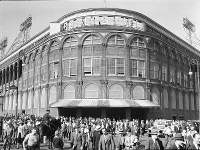 Fans Leaving Ebbets Field after Brooklyn Dodgers Game. June, 1939 Brooklyn, New York
