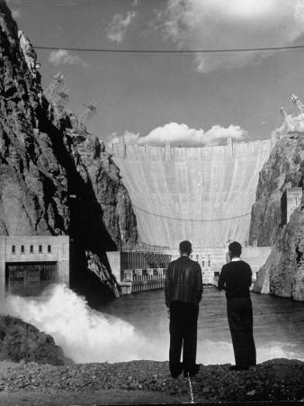 Sightseers Enjoying the Magnificent Power of Boulder Dam