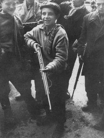 Budapest Boys from Twelve to Late Teens Carrying Rifles, Fighting During Hungarian Revolution