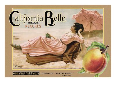 """Crate Label """"Peaches"""""""