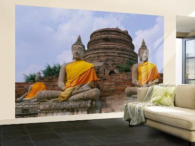 Statues of Buddha in a Temple, Thailand