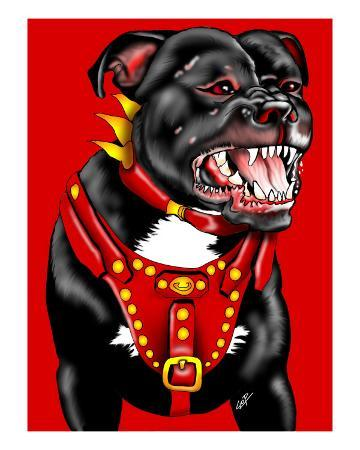 Pitbull Dog Portrait