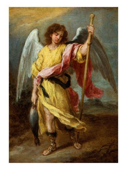 the archangel raphael giclee print by bartolome esteban murillo at