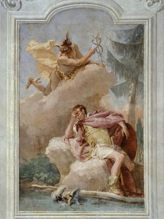 Mercury Urging Aeneas to Depart