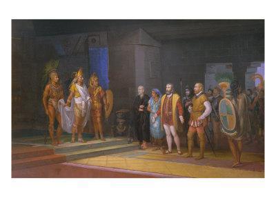 The Visits of Hernan Cortez to Emperor Moctezuma, 1885