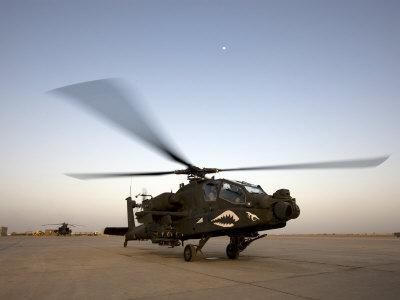AH-64 Apache Gets Ready for Take Off at Camp Speicher