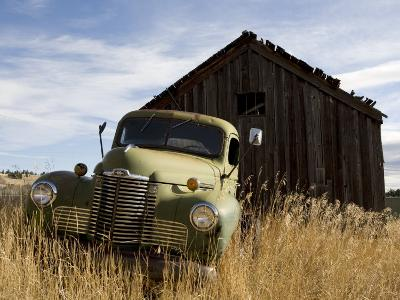 Close View of an Abandoned Pick-Up Truck, Marysville, Montana
