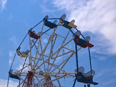 Ferris Wheel Against a Summer Sky, New London, Connecticut, USA