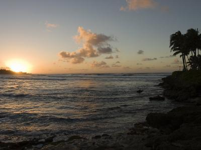 Sunset at Turtle Bay on the North Shore of Oahu Island in Hawaii