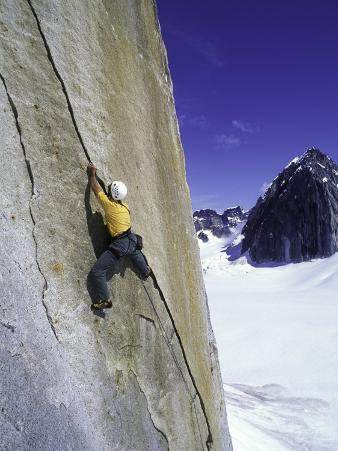 Rock Climbing a Crack in Denali National Park, Alaska