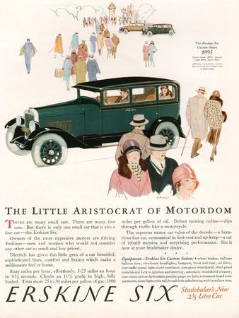 Erskine Six, Magazine Advertisement, USA, 1927