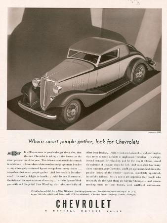 Chevrolet, Magazine Advertisement, USA, 1933