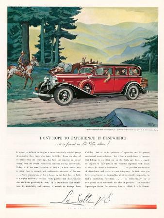 Cadillac La Salle, Magazine Advertisement, USA, 1933