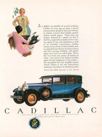Cadillac, Magazine Advertisement, USA, 1927
