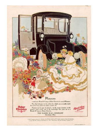 Baker Electrics, Magazine Advertisement, USA, 1916