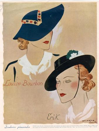 Hats, Magazine Plate, France, 1936