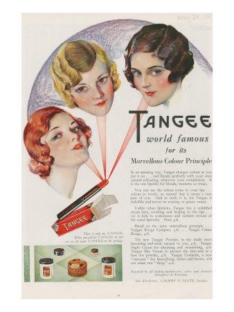 Tangee, Magazine Advertisement, UK, 1930