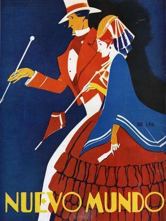 Nuevo Mundo, Magazine Cover, Spain, 1928