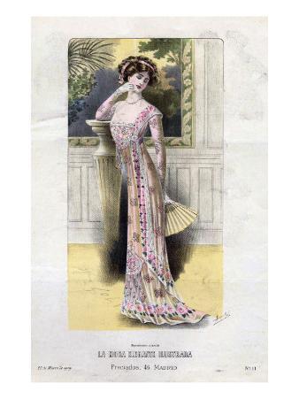 French Fashion, Magazine Plate, Spain, 1909