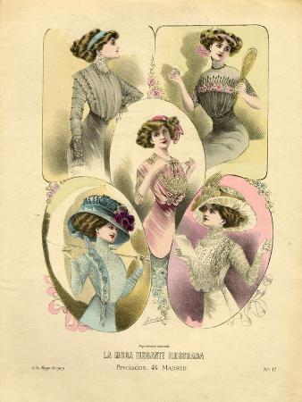 French Hats, Magazine Plate, France, 1909