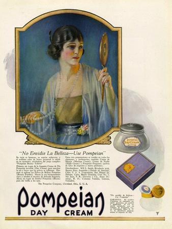 Pompeian Day Cream, Magazine Advertisement, USA, 1920