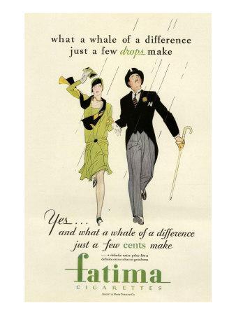 Fatima, Magazine Advertisement, USA, 1930