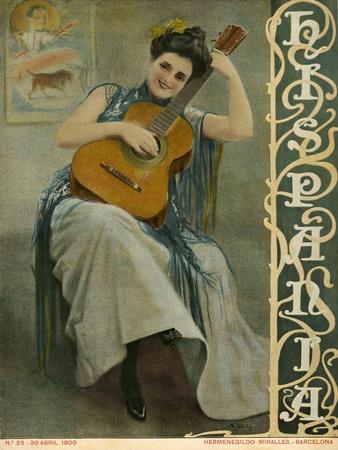 Hispania, Magazine Cover, Spain, 1900