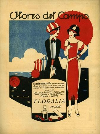 Floralia, Magazine Advertisement, Spain, 1919