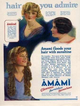Amami Shampoos, Magazine Advertisement, UK, 1920