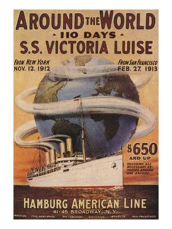 Hamburg American Line, Magazine Plate, USA, 1912