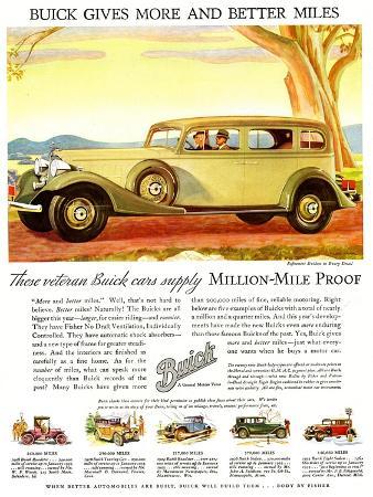 Buick Division of General Motors, Magazine Advertisement, USA, 1930
