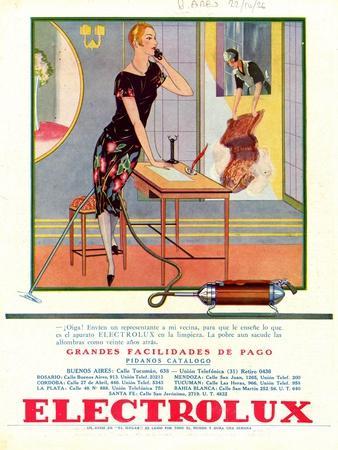 Electrolux, Magazine Advertisement, Spain, 1920