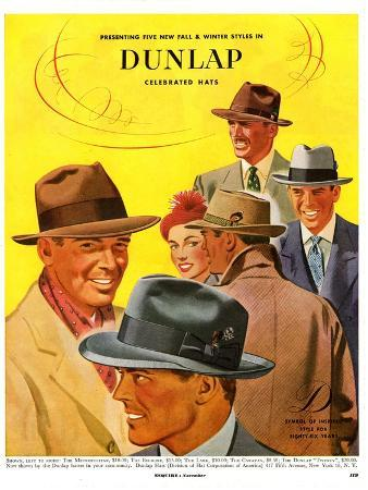 Dunlap, Magazine Advertisement, USA, 1950