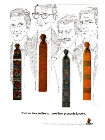 Rooster Ties, Magazine Advertisement, USA, 1960