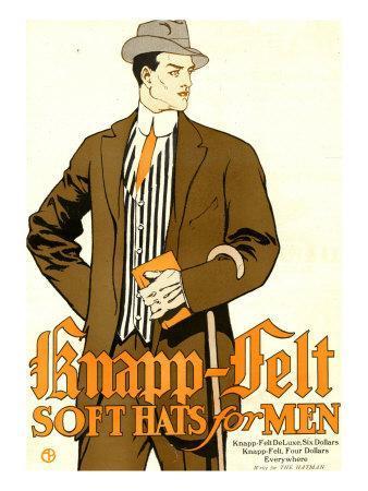 Knapp Felt, Magazine Advertisement, USA, 1910